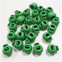 Kordelstopper 20mm rund grasgrün