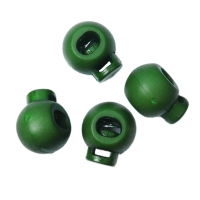 Kordelstopper 20mm rund dunkelgrün