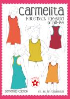 Carmelita Racerback Shirt Kleid Farbenmix Schnittmuster