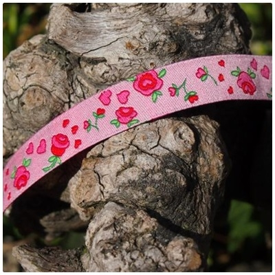 Farbenmix Webband Rosenband pink