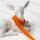 Mini Pompom-Borte, orange