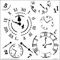 TCW Schablone - Time Travel 30x30cm
