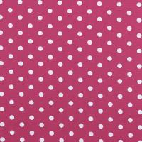 Baumwollpopeline Maxipunkte pink