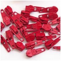6mm Reissverschluss Schieber, rot