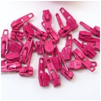6mm Reissverschluss Schieber, pink