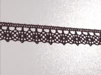 Klöppelspitze 13mm braun