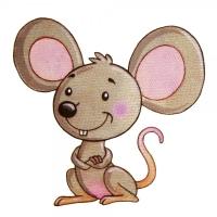 Safuri Bügelbild Maus