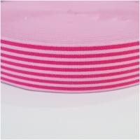 Gummiband gestreift, 40mm, rosa-pink