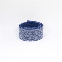 Gummiband 25mm glitzer blau
