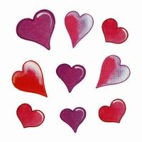 Safuri Bügelbild 9 Herzen