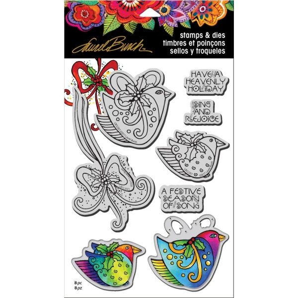 Cling Stempel & Die Set Heavenly Holiday