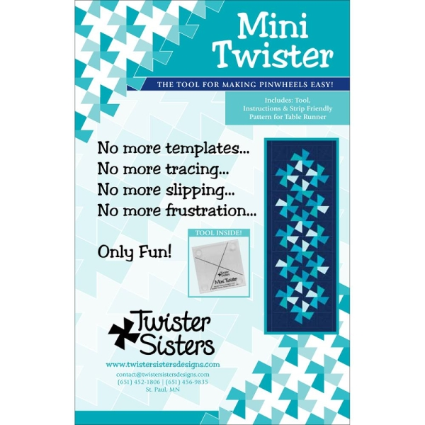 Mini Twister Schablone für Twister Quilts