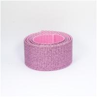 Polygurtband, 32mm (1,25 inch), glitter rosa