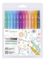 Tombow TwinTone Marker Set PASTELS