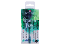 Ecoline Brush Pen Set GREEN BLUE