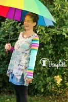 Lady Indira Damen Zipfelshirt Farbenmix Schnittmuster