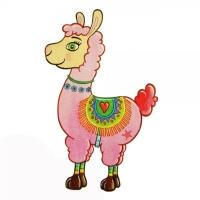 Safuri Bügelbild Lama Pink