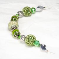 Design Elements Glass Bead Strand, Greenery No. 1