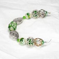 Design Elements Glass Bead Strand, Greenery No. 2