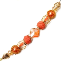 Design Elements Glass Bead Strand, Flame no. 2