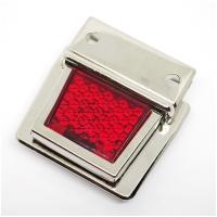 Metall Steckverschluss Reflektor rot