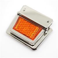 Metall Steckverschluss Reflektor orange