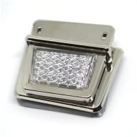 Metall Steckverschluss Reflektor weiss