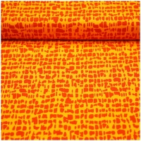 Baumwolle Gitter rot-orange