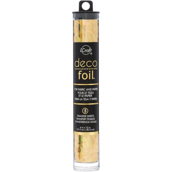 Deco Foil Folie Gold Shattered Glass 6