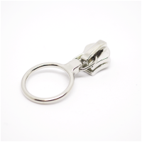 6mm Reissverschluss Schieber Nickel Ring