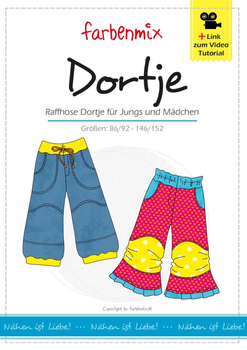 Farbenmix Schnittmuster Dortje kaufen bei Zwergenstoffe ...