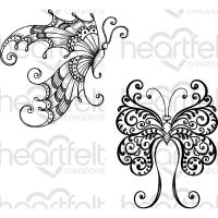 Cling Stempel Fluttering Butterfly