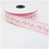 Repsband Rosen rosa 25mm