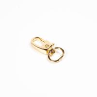 Mini Karabiner gold für 10mm Band