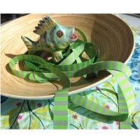 Farbenmix Webband Ringel grau-grün