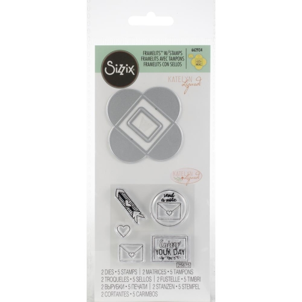 Sizzix Stamp and Die Set Send a Note