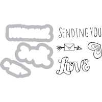 Sizzix Stamp and Die Set Sending You Love