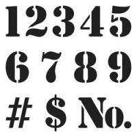 TCW Schablone - Numbers 30x30cm