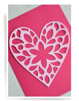 Birch Press Design - Fiori Heart Layer Craft Die Stanze