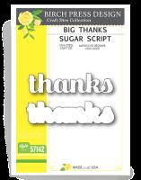 Birch Press Design - Layer Craft Sugar Script Die THANKS