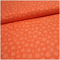 Baumwolle Dots on crisscross apricot