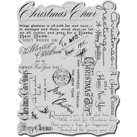 Stampendous Cling Stempel Christmas Background