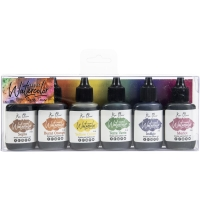 Color Burst Liquid Watercolor Earth Tones 6-er Pack