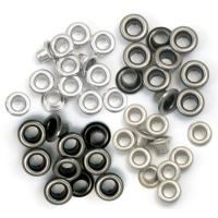 Zieroesen Eyelets klein 5mm kalt metall