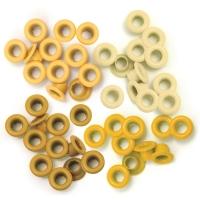 Zieroesen Eyelets klein 5mm gelb