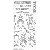 My favorite things Clear Stamp - Recipe for Happiness