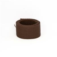 Poly Gurtband 25mm Dunkelbraun