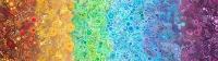 Baumwolle Effervescence ADVENTURE Regenbogen-Grau
