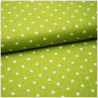 Canvas dots leinen-lime