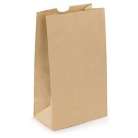 brauner Papiersack mit Kreuzboden 25x15x43 cm